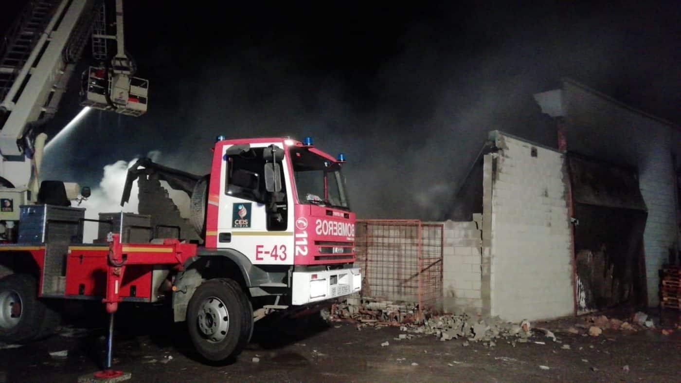 Incendio en Arnedo