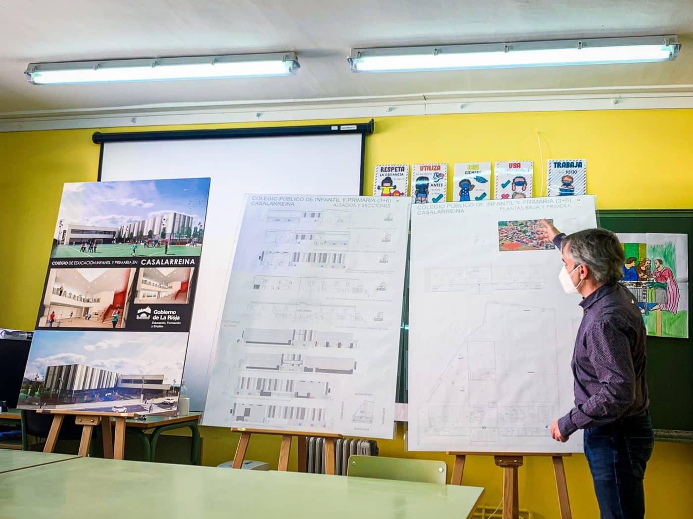 """""""Un día soñado"""": Arrancan las obras del nuevo colegio de Casalarreina 2"""