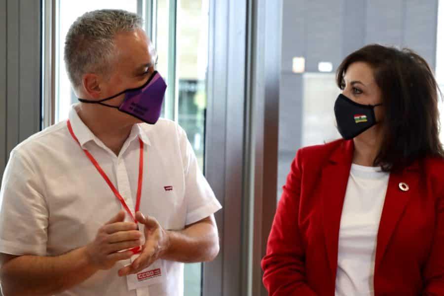 """Andreu subraya la """"necesaria relación"""" con CCOO La Rioja para sostener a las clases trabajadoras 1"""