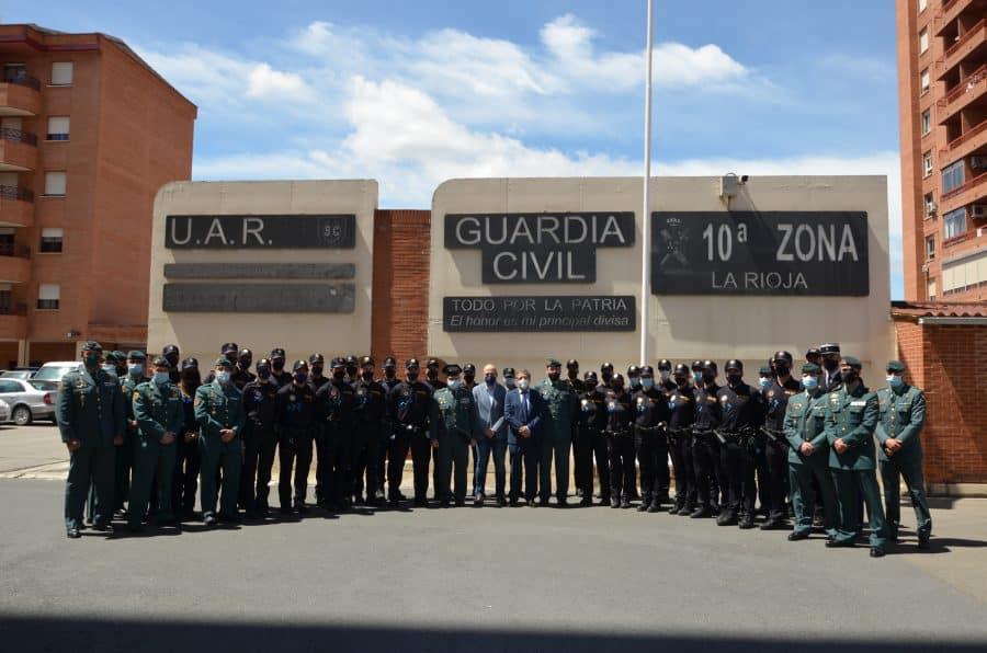 32 policías locales de La Rioja se adiestran con la Guardia Civil 2