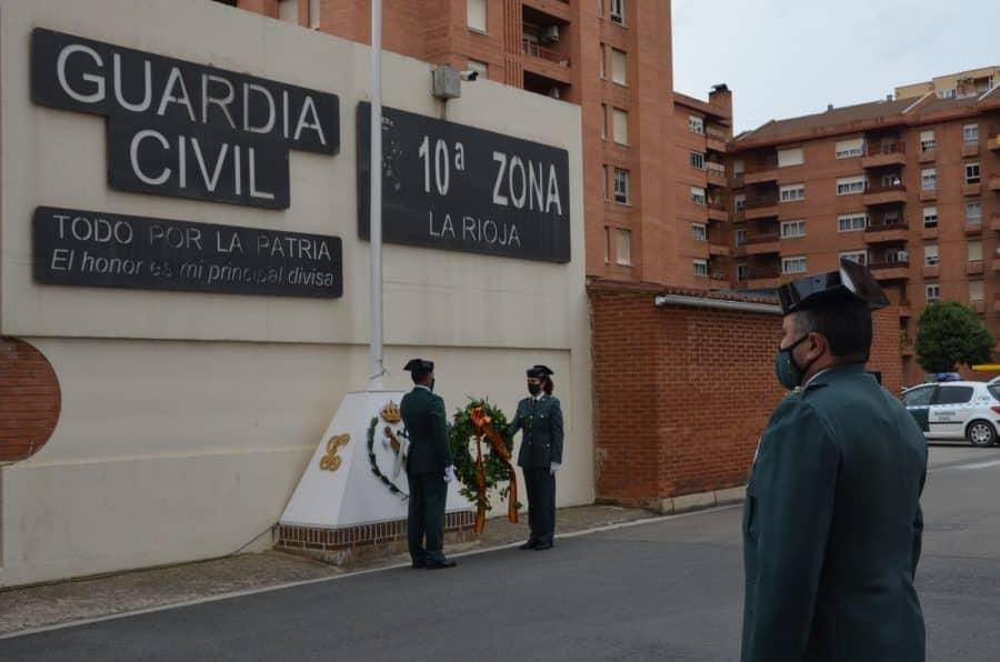 Acto simbólico en La Rioja para celebrar el 177 aniversario de la Guardia Civil 3