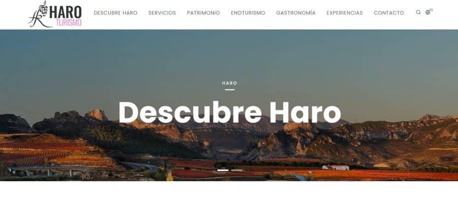 Haro lanza su nueva web de turismo 1