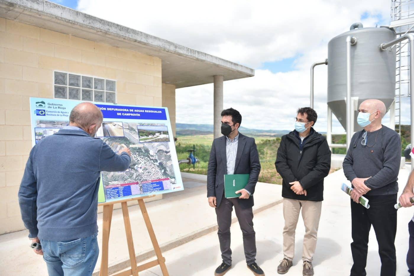 La Rioja invierte más de 1,1 millones de euros en la nueva estación depuradora de Camprovín 1