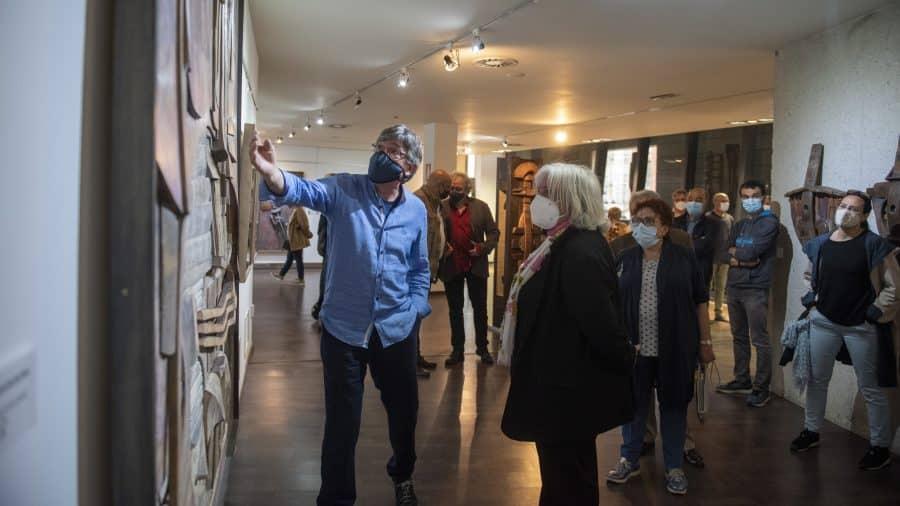 FOTOS: El Torreón de Haro inaugura 'De grana y roble', del artista riojano Óscar Cenzano 2