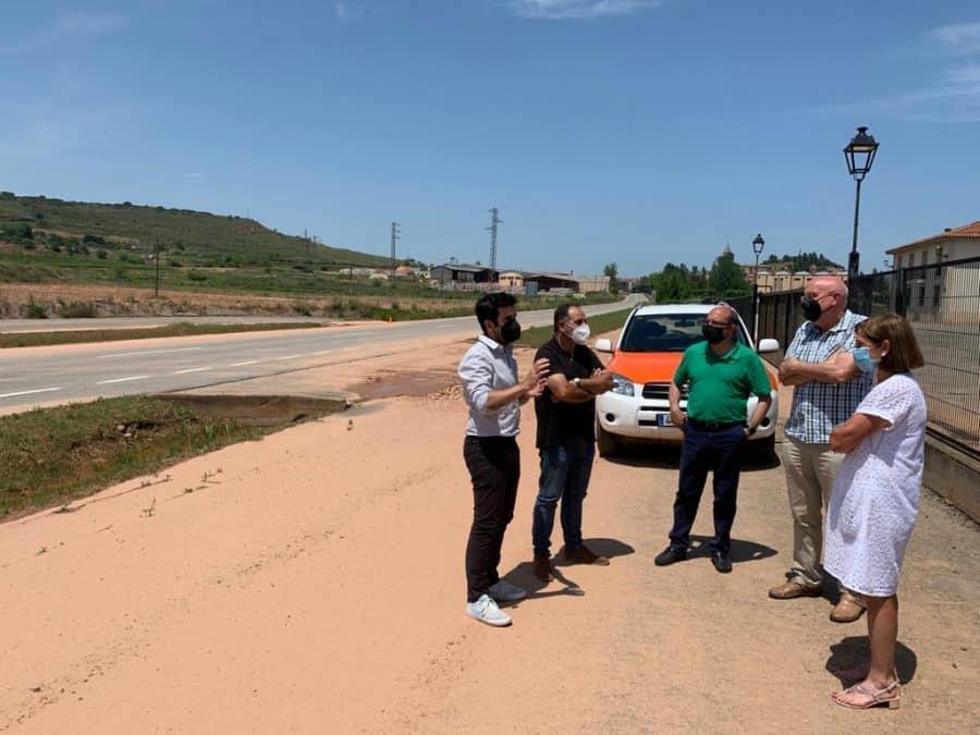 Andreu conoce de primera mano los daños ocasionados por el temporal en Fuenmayor 4