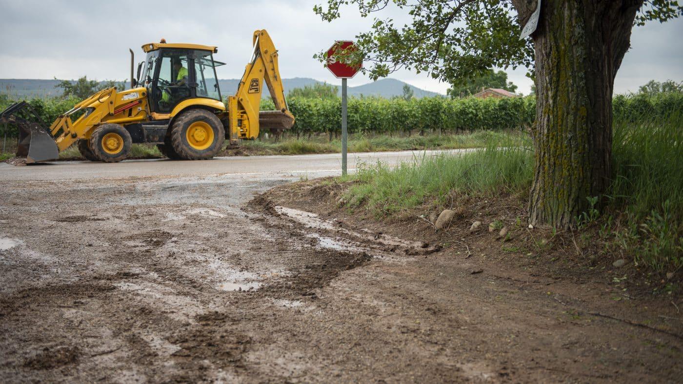 El Gobierno riojano realizará mejoras en Ollauri y Navarrete para favorecer la canalización tras las tormentas 21