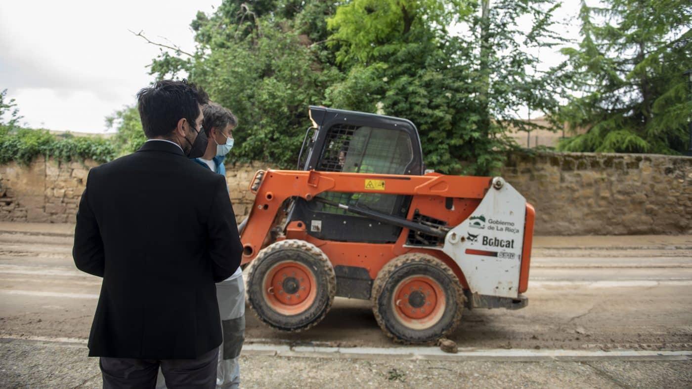 El Gobierno riojano realizará mejoras en Ollauri y Navarrete para favorecer la canalización tras las tormentas 16