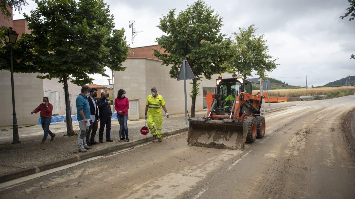 El Gobierno riojano realizará mejoras en Ollauri y Navarrete para favorecer la canalización tras las tormentas 14