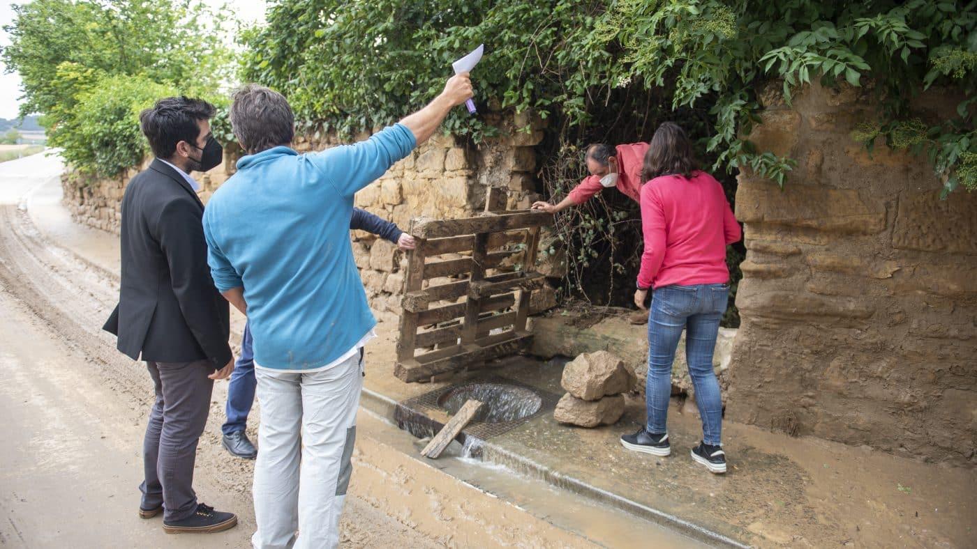 El Gobierno riojano realizará mejoras en Ollauri y Navarrete para favorecer la canalización tras las tormentas 13