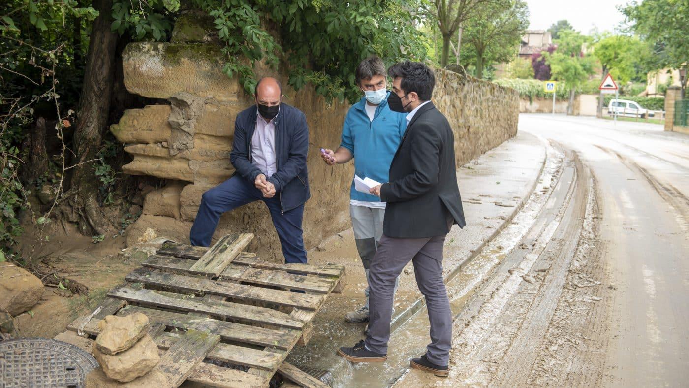 El Gobierno riojano realizará mejoras en Ollauri y Navarrete para favorecer la canalización tras las tormentas 4