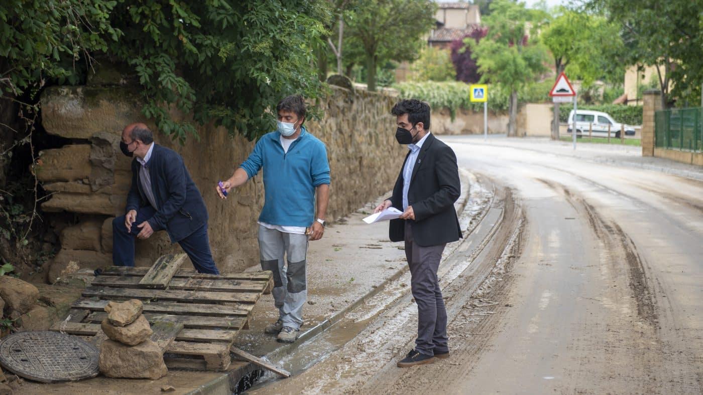 El Gobierno riojano realizará mejoras en Ollauri y Navarrete para favorecer la canalización tras las tormentas 9