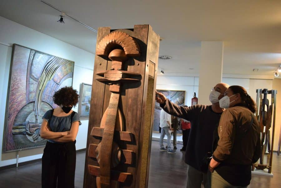 FOTOS: El Torreón de Haro inaugura 'De grana y roble', del artista riojano Óscar Cenzano 17