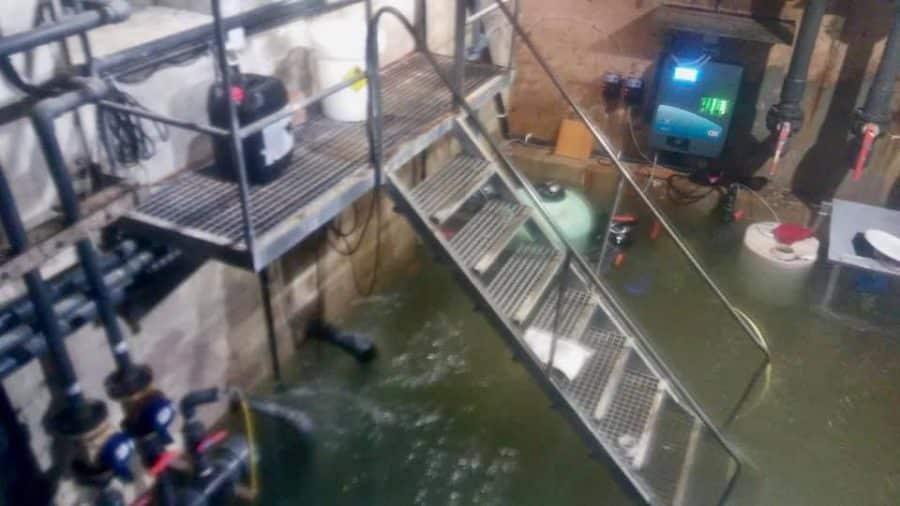 Fuenmayor cierra las piscinas por las inundaciones 1