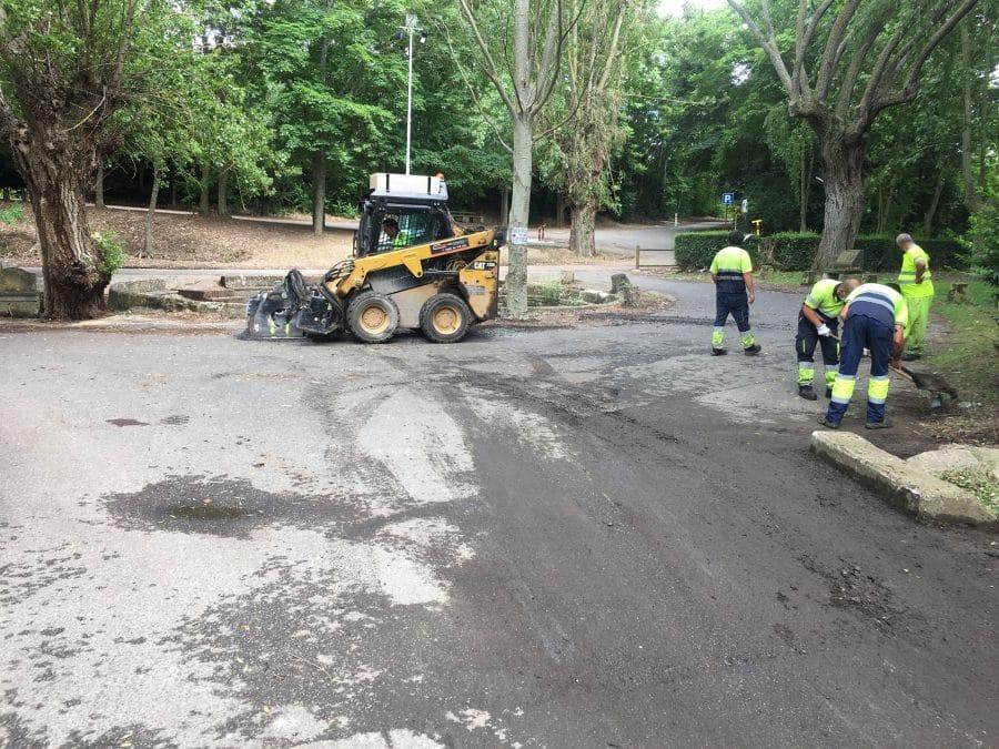 Haro inicia los trabajos de acondicionamiento de los accesos a Fuente del Moro 3