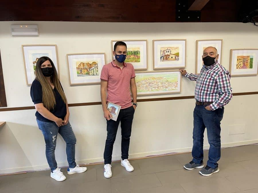 Inaugurada la exposición de pintura 'Hitos patrimoniales de Nalda e Islallana' 3
