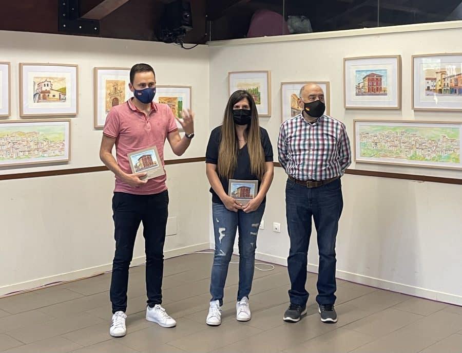 Inaugurada la exposición de pintura 'Hitos patrimoniales de Nalda e Islallana' 2