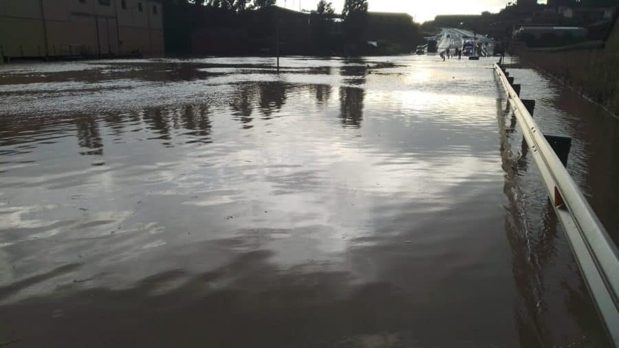 VÍDEO: La N-232 en Briones, otra vez cortada por las lluvias 4