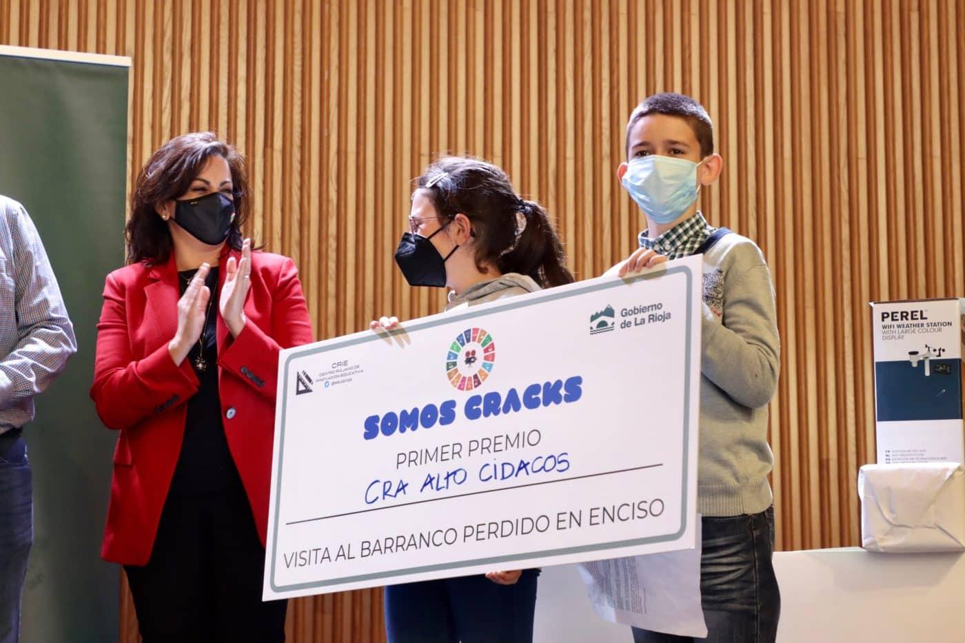 Los colegios Entrevalles, Alto Cidacos, Valle Oja-Tirón y Entreviñas, premiados en el concurso 'Somos CRAcks' 1