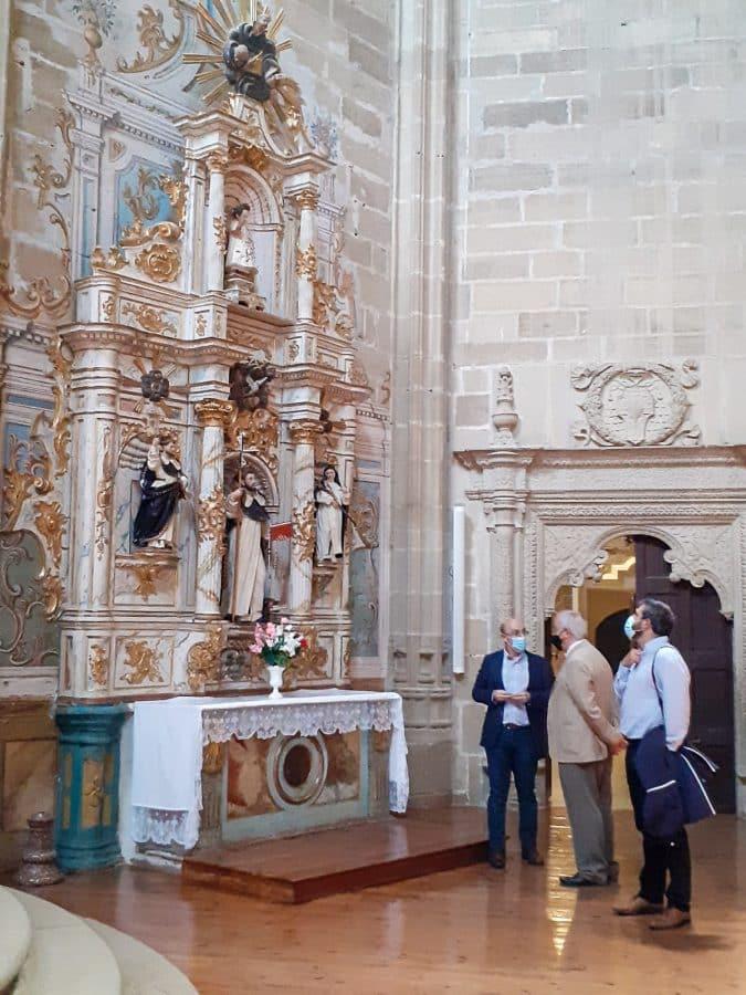 Uruñuela visita el monasterio de La Piedad en Casalarreina tras las últimas acciones de restauración 1