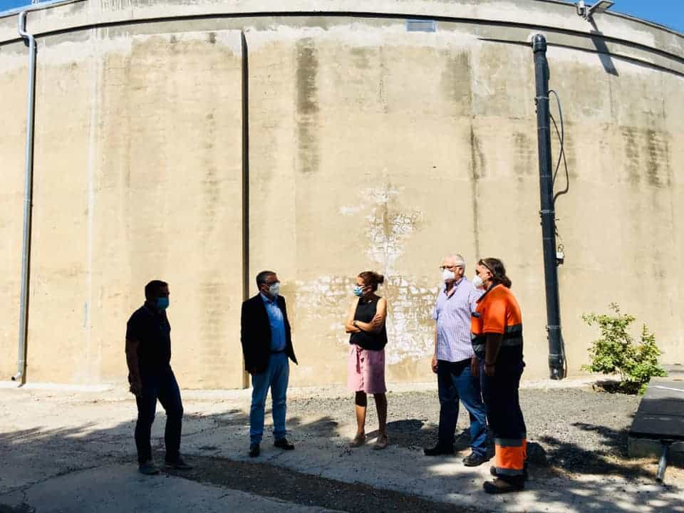 Ya está en funcionamiento el depósito de agua de Haro recientemente reformado 3