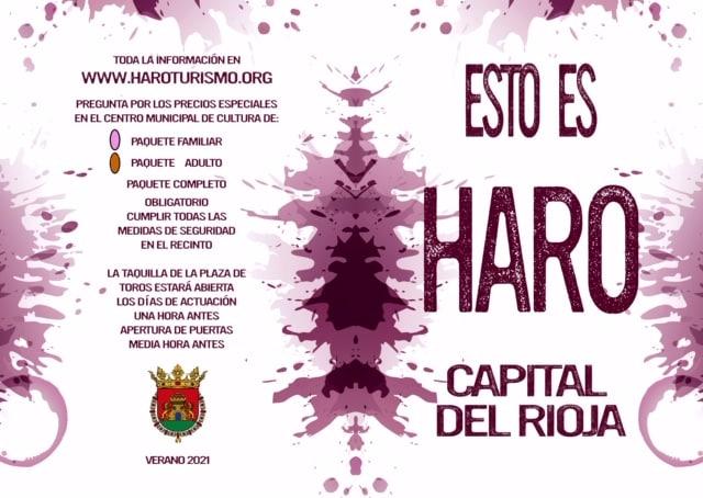 Las entradas del programa cultural 'Esto es Haro, Capital del Rioja', a partir del 6 de julio 1