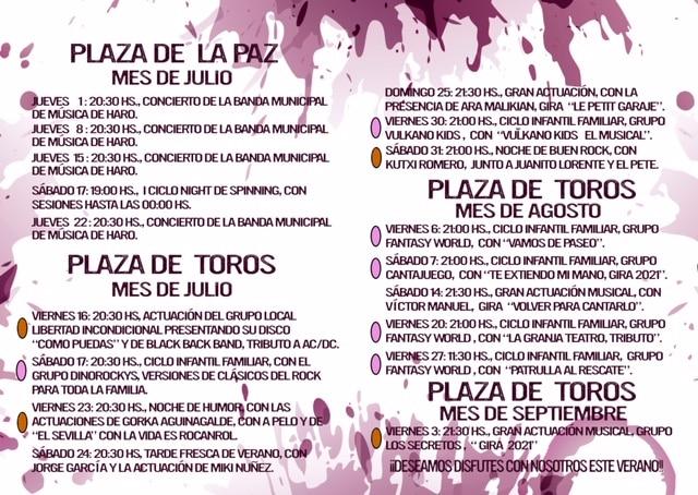 Las entradas del programa cultural 'Esto es Haro, Capital del Rioja', a partir del 6 de julio 2