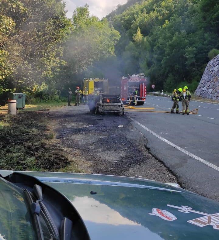 Sofocado el incendio de un coche en la N-111 1
