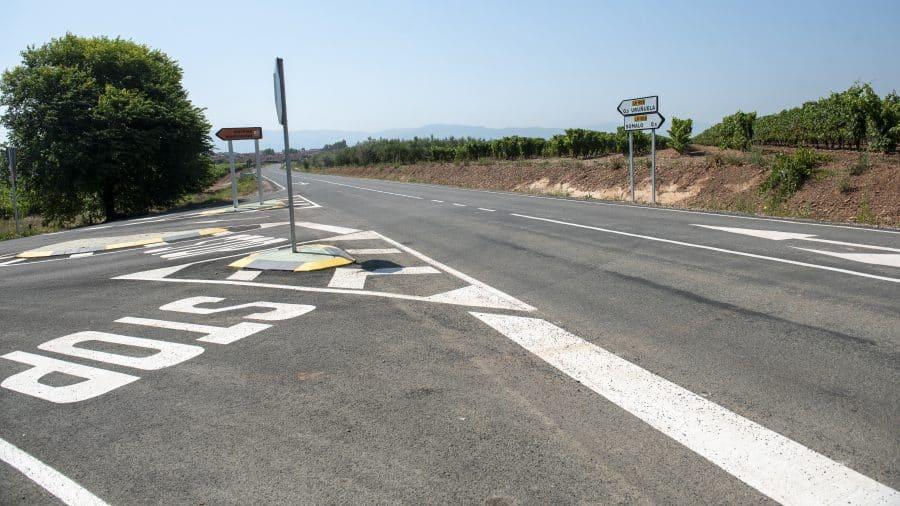 Finalizan las obras de acondicionamiento de la LR-509 entre Uruñuela y Somalo 2