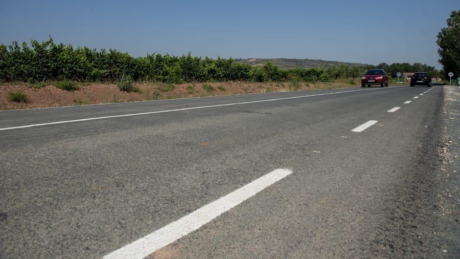 Finalizan las obras de acondicionamiento de la LR-509 entre Uruñuela y Somalo 1