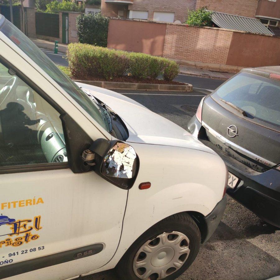La Policía Local de Logroño identifica al autor de la rotura de varios retrovisores de coches 1