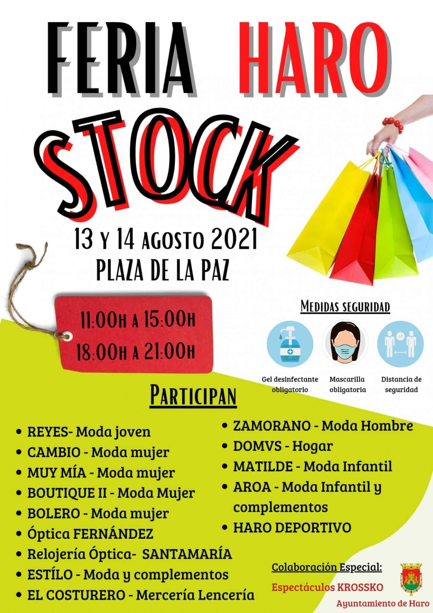 La feria Haro Stock vuelve a la plaza de la Paz los días 13 y 14 de agosto 2