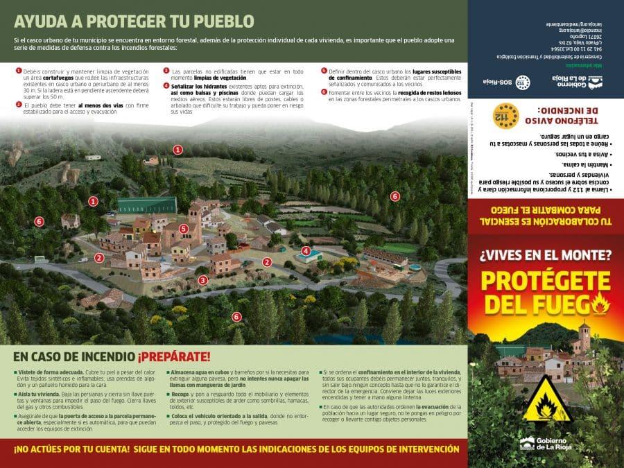 La Rioja lanza una recopilación de consejos para prevenir incendios en viviendas próximas a zonas forestales 2