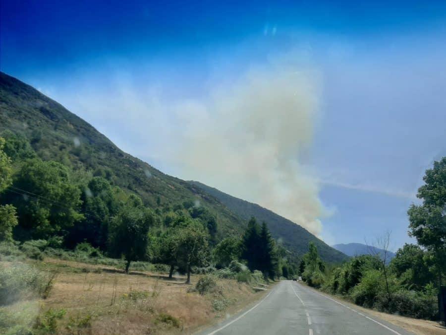 Incendio forestal en las inmediaciones de Ezcaray 3