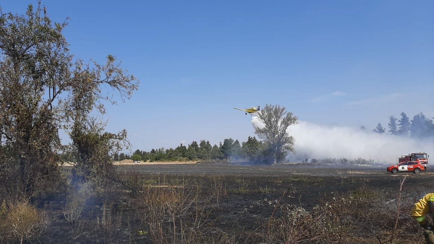 Extinguido un incendio en una finca cosechada de Santo Domingo 1