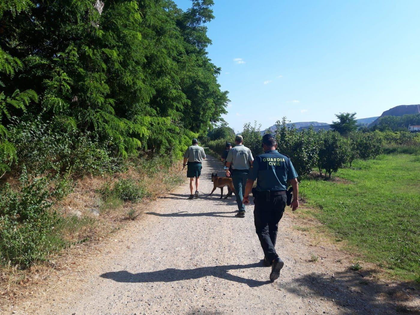 La Guardia Civil continúa con la búsqueda del joven desaparecido en Entrena 4
