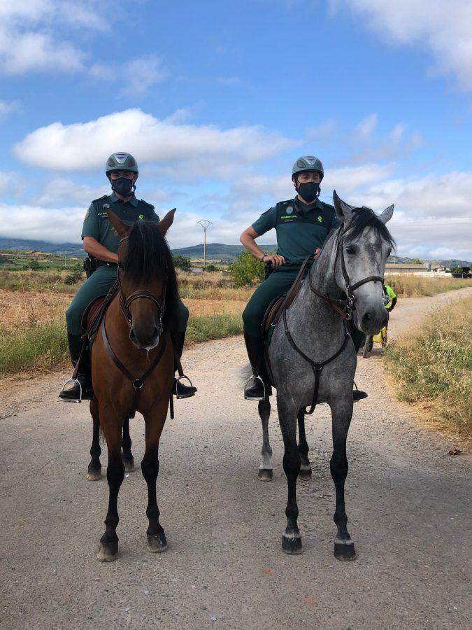 La Guardia Civil despliega en La Rioja su Unidad de Caballería y las Oficinas Móviles de Atención al Peregrino 2