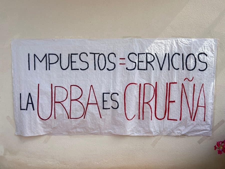 """Vecinos de la urbanización del Campo de Golf de Cirueña protestan ante el Ayuntamiento por """"falta de servicios"""" 1"""