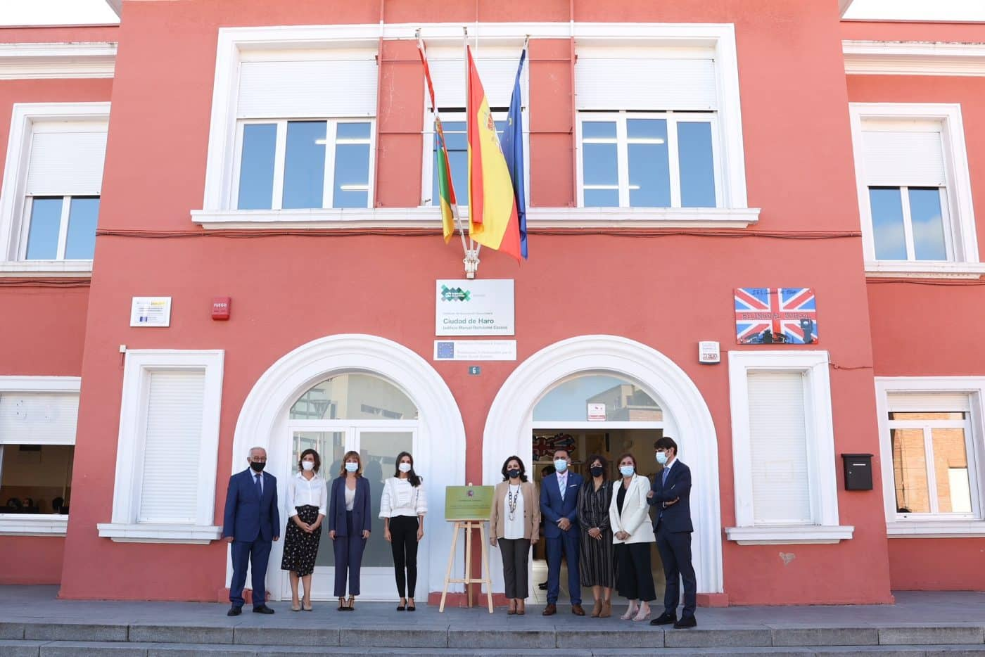 La reina Letizia preside en Haro la apertura del curso de FP 4