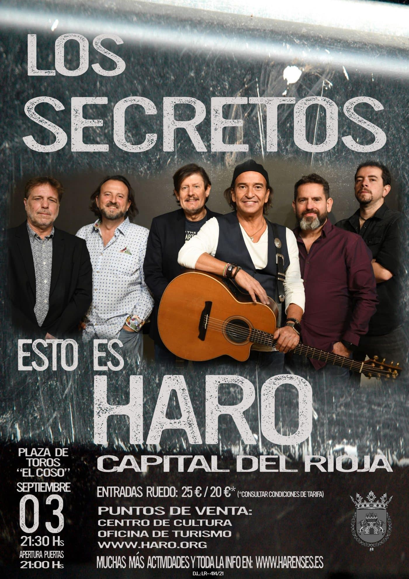 'Los Secretos' cuelga en Haro el cartel de 'no hay billetes' 1
