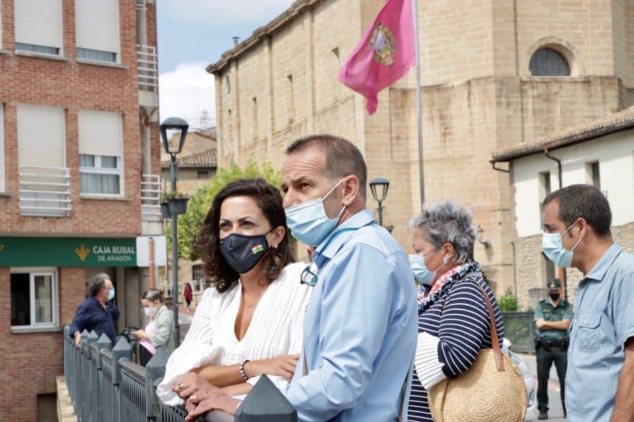 Andreu comprueba en Cenicero y Entrena el estado de las obras acometidas con financiación autonómica 1