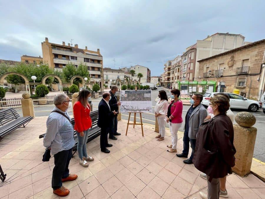 Andreu comprueba en Cenicero y Entrena el estado de las obras acometidas con financiación autonómica 3