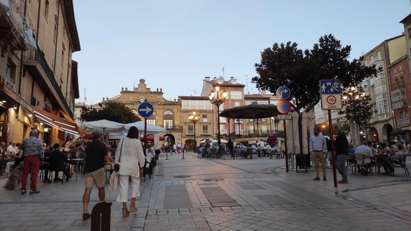 Plaza de la Paz desde calle Navarra 2021