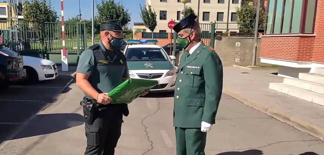 Homenaje al sargento Nevado en el cuartel de la Guardia Civil en Haro por su pase a la reserva 1