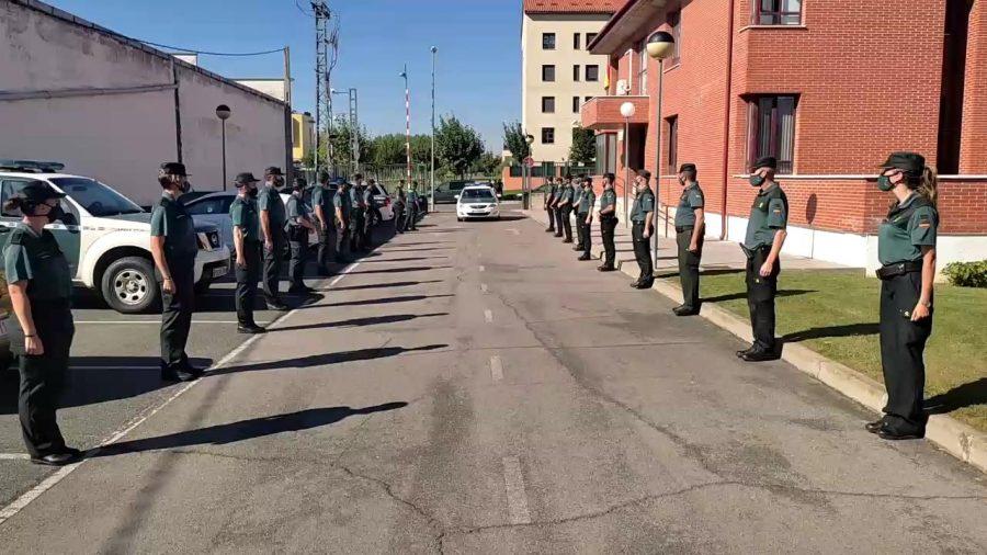 Homenaje al sargento Nevado en el cuartel de la Guardia Civil en Haro por su pase a la reserva 5