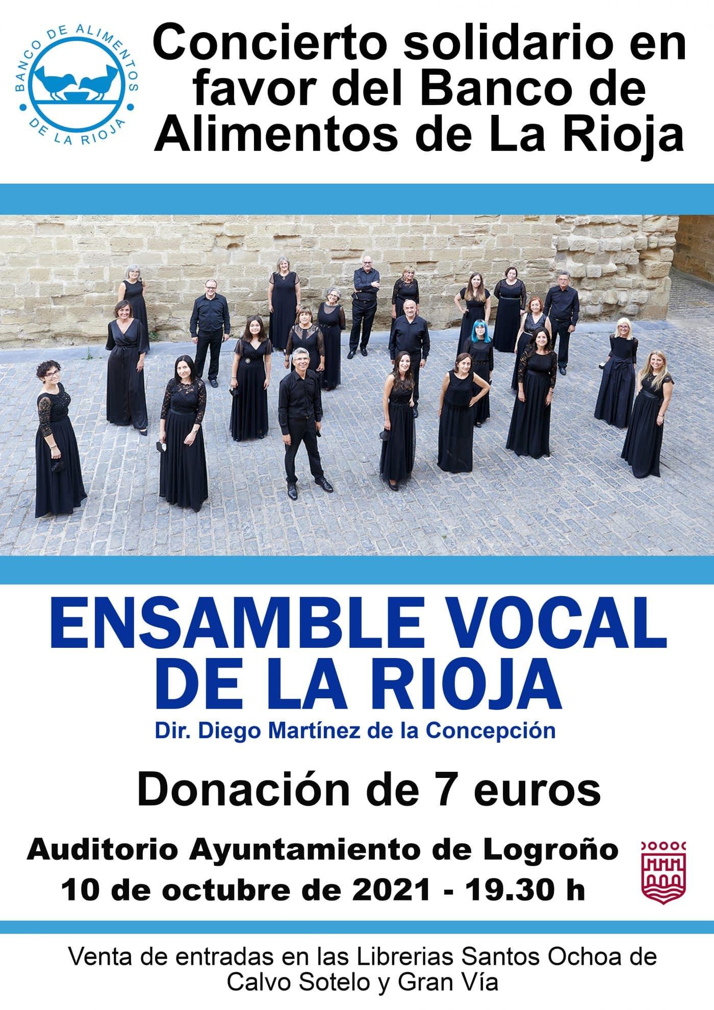 Ensamble Vocal de La Rioja ofrece este domingo un concierto en favor del Banco de Alimentos 1