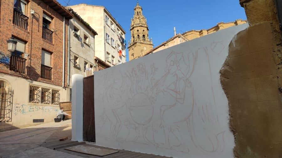 Los murales del festival 'Abocajarro' van tomando forma en Haro 6