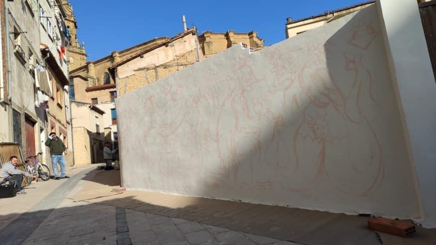 Los murales del festival 'Abocajarro' van tomando forma en Haro 5