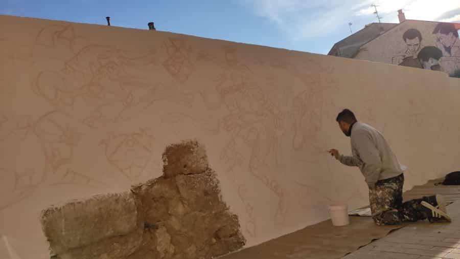Los murales del festival 'Abocajarro' van tomando forma en Haro 4