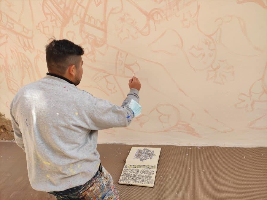 Los murales del festival 'Abocajarro' van tomando forma en Haro 3