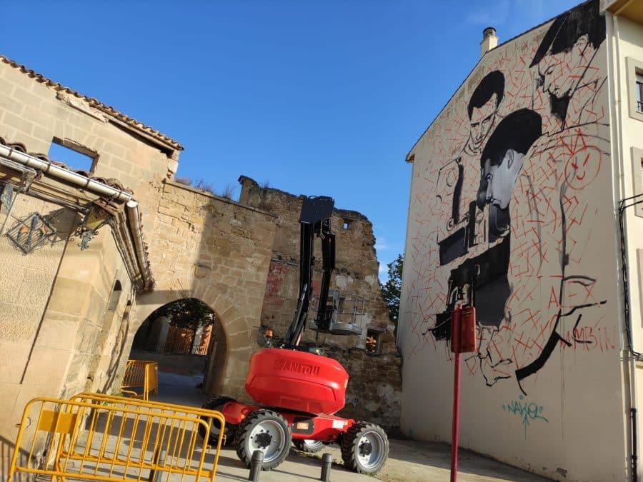 Los murales del festival 'Abocajarro' van tomando forma en Haro 7